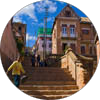 Photos of the steps and alleys of Tananarive (Antananarivo), Madagascar