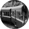 Photos of train FCE in Madagascar in black and white